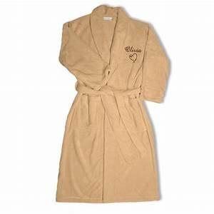 joli cadeau idee cadeau naissance peignoir polaire With robe de chambre personnalisé