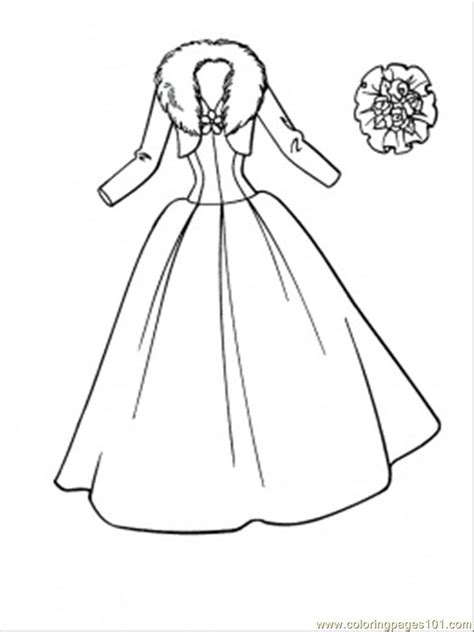 wedding dress coloring page  clothing coloring pages coloringpagescom