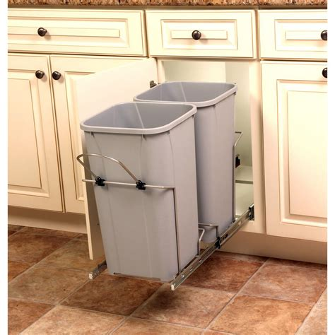 cabinet trash can real solutions for real 18 75 in x 11 in x 22 in
