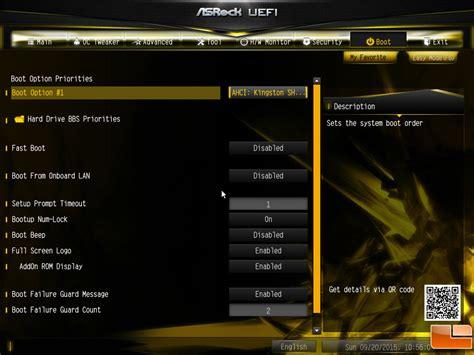 asrock bios oc formula z170 motherboard boot menu overclocking enthusiasts bmp