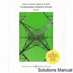 Solutions Manual For Fundamentals Of Electric Circuits 5th