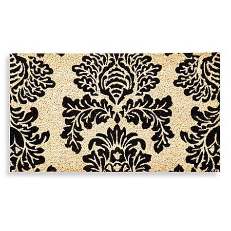 black damask coir door mat bed bath beyond