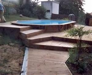 terrasse en cumaru avec marches pour piscine hors sol With amenagement autour d une piscine hors sol 16 boisylva aquitaine multiservices construction bois