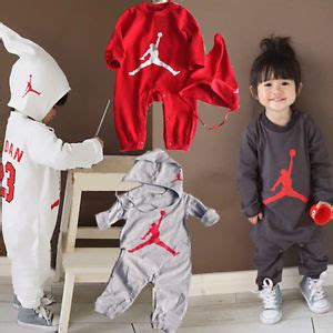 Baby Boys Long Sleeve Basketball Jordan 23 Romper Playsuit Outfit Set with Hat   eBay