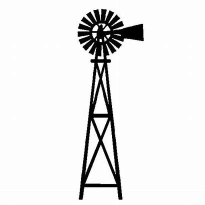 Windmill Farm Windmills Silhouette Drawings Painting