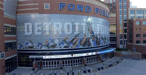 ford field parking deck lot 6 stadium guide