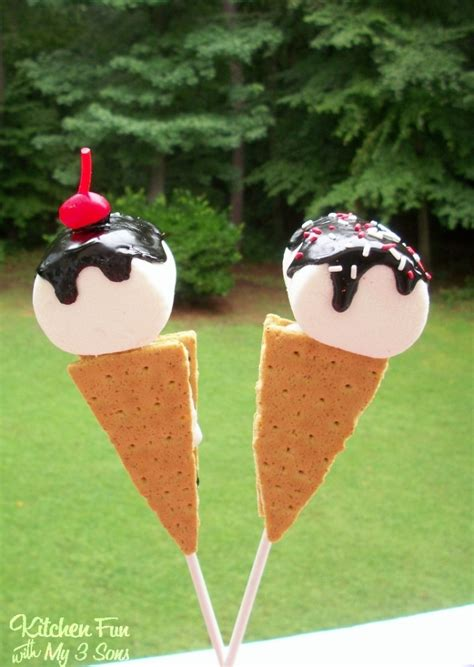 Marshmallow Ice Cream Cones  Kitchen Fun With My 3 Sons
