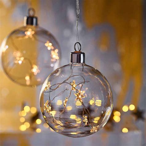 Weihnachtsdeko Mit Lichterketten by Kugel Glas Mit Lichterstrang Klar Ca D 15 Cm I Want To