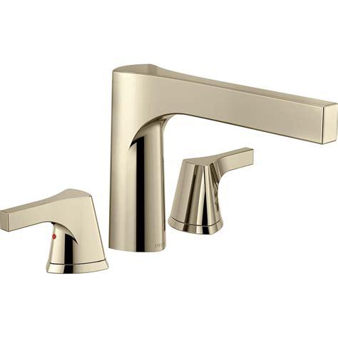 bathtub faucet kit delta cassidy 1 handle floor mount tub faucet trim