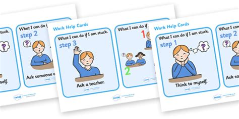 Work Help Flashcards  Behaviour Management, Rules, Card