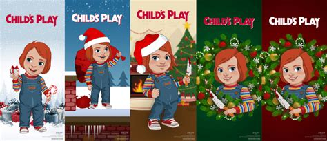 childs play reboot launches bloody holiday  cards