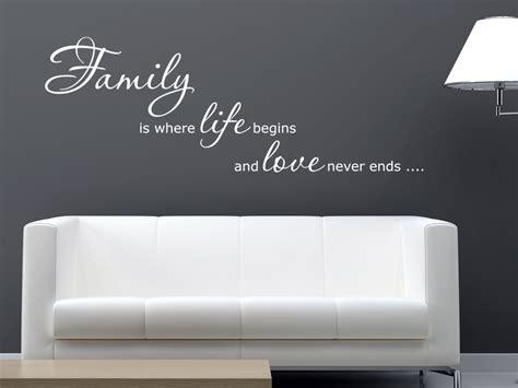 englisches wandtattoo family is wandtattoo net