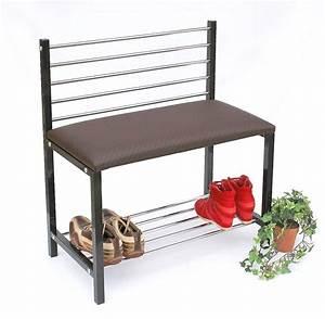 Schuhregal Mit Bank : schuhregal mit sitzbank bank 70cm schuhschrank aus metall schuhablage dandibo ~ Whattoseeinmadrid.com Haus und Dekorationen