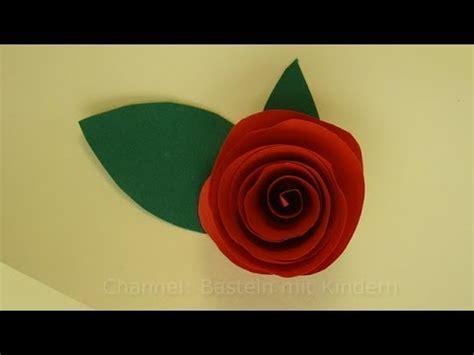 blumen basteln rosen basteln mit papier diy