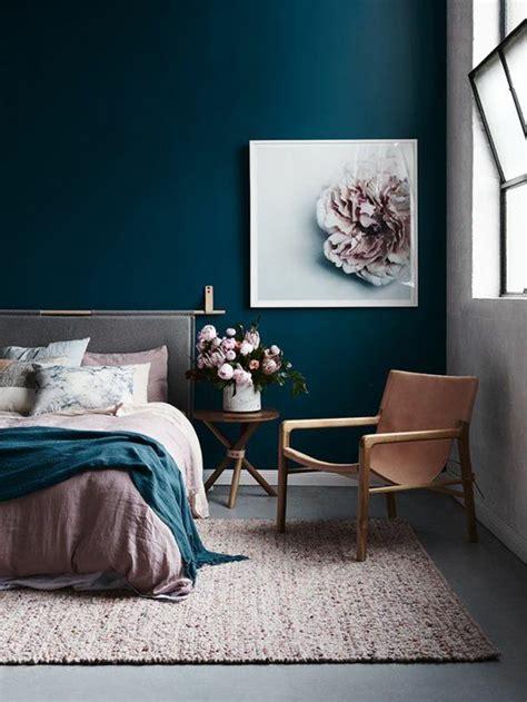 decoration chambre bleue déco salon peinture glycéro chambe à coucger avec