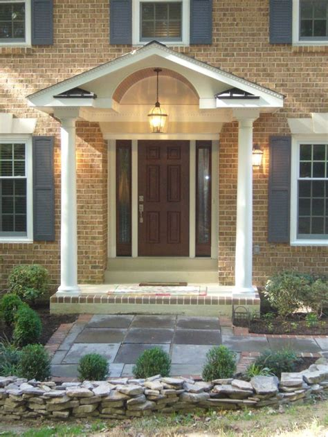 harmonious portico house plans remodeling front door entryway 1980 s home remodel