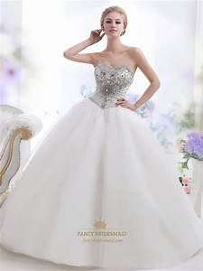ivory sweetheart ball gown heavily beaded bodice tulle With beaded wedding dresses