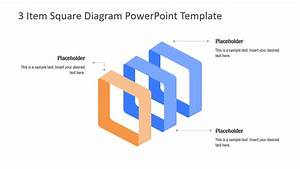 3 Item Square Diagram Powerpoint Template