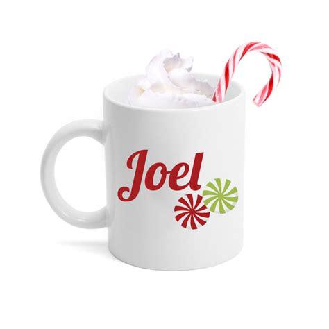 christmas candy personalized mug