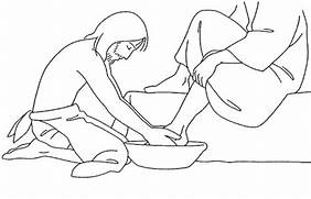 foot washing coloring pages