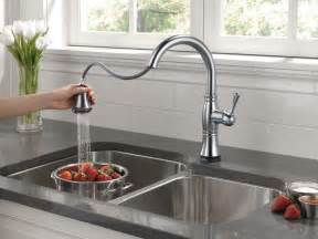 delta cassidy kitchen faucet delta faucet 9197t dst cassidy single handle pull kitchen faucet with touch2o technology