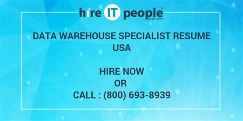 Data Warehouse Specialist Resume by Warehouse Specialist Company With Warehouse Specialist