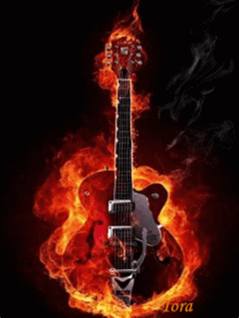 Animated Fire Guitar Pda Wallpapers 240x320 Hd Wallpaper