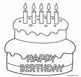 Cake Coloring Birthday Preschool Printable Cool2bkids sketch template