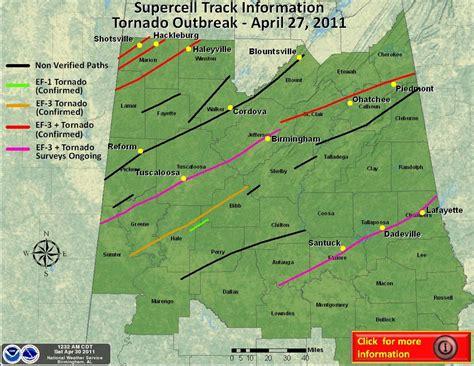 Alabama Tornado Tracksmaptd