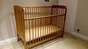 Cot, With, Drop, Down, Side, And, 2, Position, Mattress, Base, For