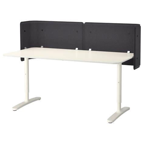 bekant reception desk white 160x80 55 cm ikea