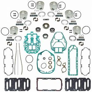 Mercury Outboard Complete Powerhead Rebuild Kit Mercury 2 5l V6 135  U0026 150 Hp Dfi With Head O