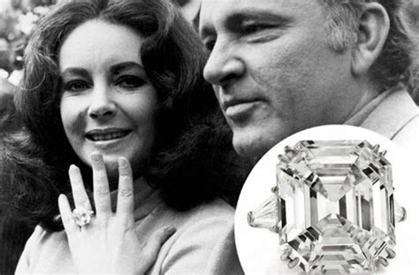 wow elizabeth taylor s engagement wedding ring