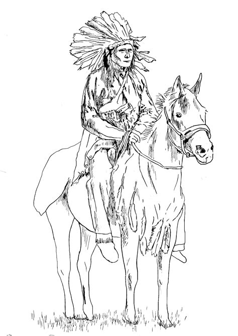 native american   horse native american adult coloring pages
