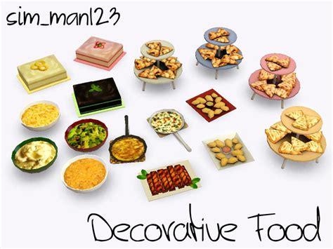 cuisine sims 3 sim man123 39 s decorative food