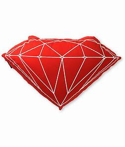 diamond supply co brilliant red pillow zumiez With diamond supply co pillow