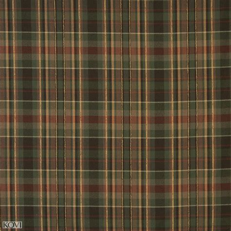 plaid upholstery fabric brown forest green and coral country plaid linen