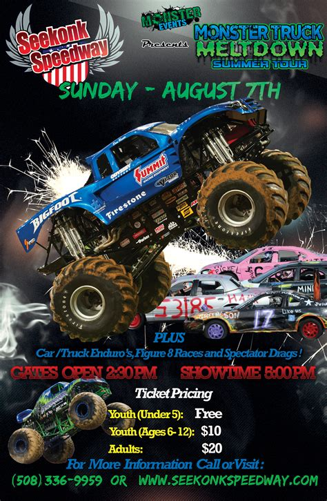 monster truck rally videos monster events monster truck meltdown summer tour to