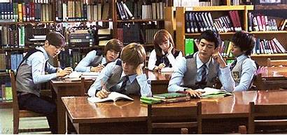 Library Shinee Gifs Studying While Expectativa Listening