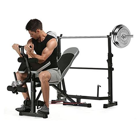 Anfan Olympic Weight Bench, Multifunction Adjustable
