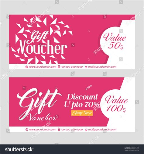 creative vector template gift vouchers creative stock
