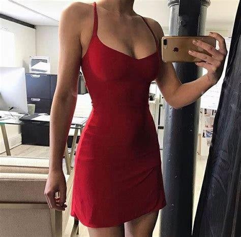 Dress red dress tumblr black dress red bodycon ...