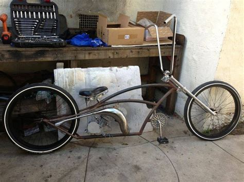 No Name Customs Stretch Cruiser Project, Motorized Bicycle