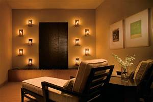 Meditation Room Lighting With Wall Mounted Candle For