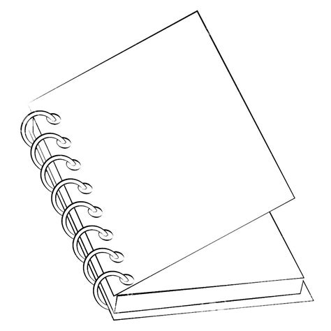 notebook coloring pages    print