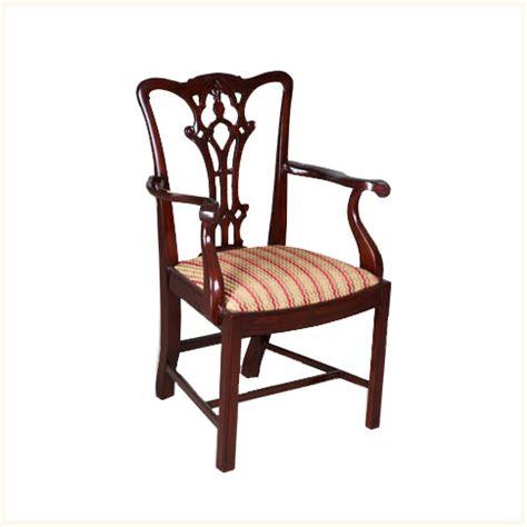 calcutta chippendale armchair colonial teak
