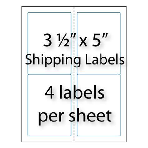 avery business card template 2 x 3 5 shipping labels 3 1 2 quot x 5 quot 4 up avery 174 5168 compatible