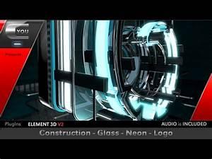 Construction Glass Neon Logo