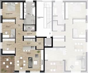 Grundrisse Für Bungalows 4 Zimmer : grundriss wohnung 60 qm ~ Sanjose-hotels-ca.com Haus und Dekorationen