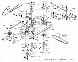 Dixon Ztr 428  1993  Parts Diagram For Mower Deck Assembly